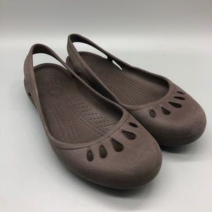 Crocs Kadee waterproof slingback flats